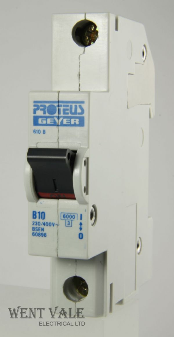 Proteus 610B 10a Type B Single Pole MCB